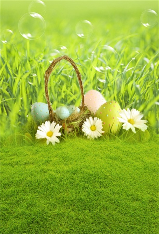 Laeacco Spring Easter Eggs Green Grassland Baby Photography Backgrounds Custom Camera Photographic Backdrops For Photo Studio in Background from Consumer Electronics
