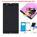 Для Sony Xperia Z L36H L36I C6606 C6603 C6602 C660x C6601 ЖК-Дисплей С Сенсорным Экраном Ассамблеи + Инструменты + клей, черный Бесплатная доставка
