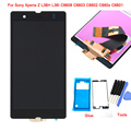 For Sony Xperia Z L36H L36I C6606 C6603 C6602 C660x C6601 LCD Display Touch Screen Assembly+Tools+ adhesive, Black Free shipping
