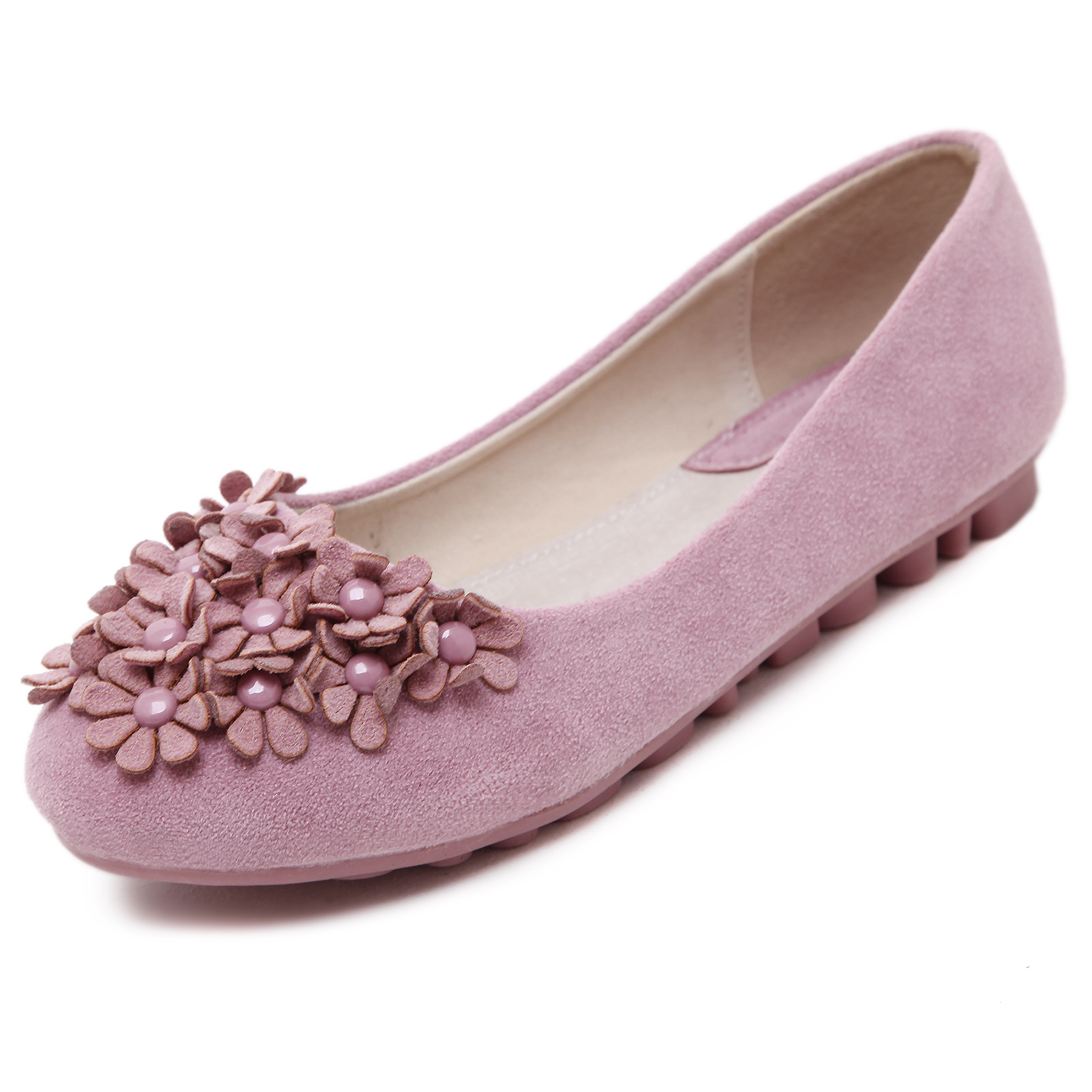 Brand New Fashion Casual Flowers Loafers Sweet Candy Colors Women Flats Solid Summer Style Shoes Woman 3 Colors Plus Size 35-40 weweya 2017 summer candy colors ladies flats fashion pointed toe shoes woman new flat shoes women plus size chaussure femme