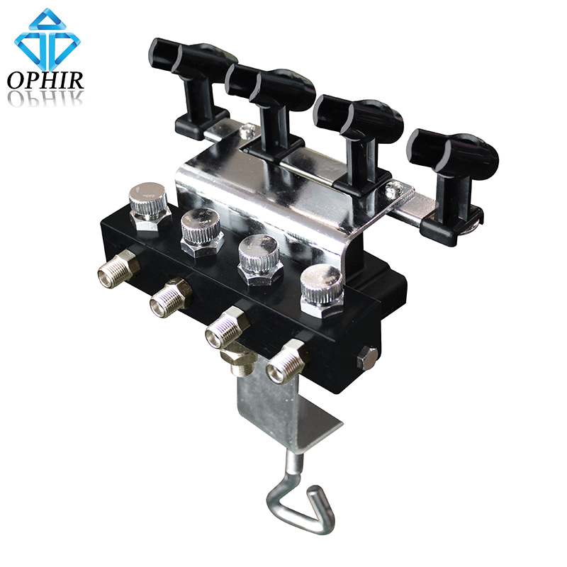 OPHIR Cake Paint Airbrush Holders with 1 8 1 8 Splitter for 4pcs of Airbrush Guns