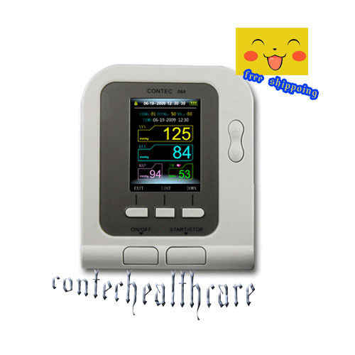 CONTEC CONTEC08A CE & FDA 디지털 상완 혈압 모니터 성인 커프 + PC 소프트웨어 무료 배송