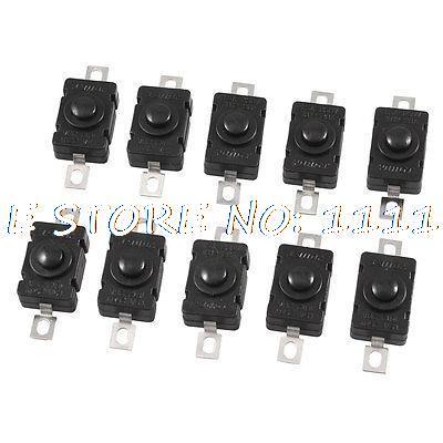 Torch Flashlight Self Lock SPST Push Button Switch AC/DC 250V 1.5A