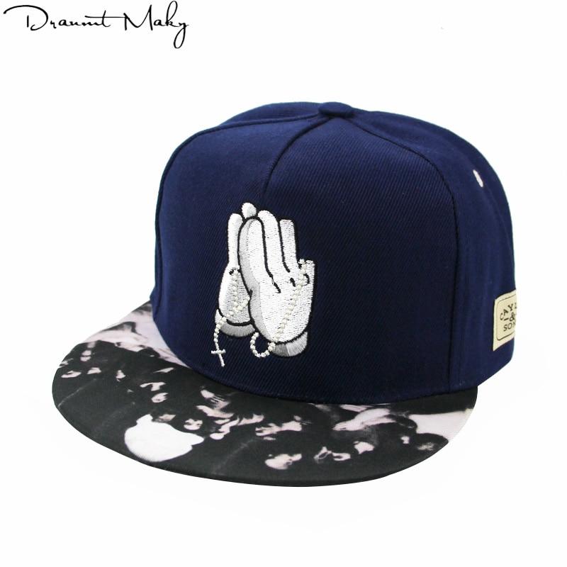 2018 New Buddha palm   baseball     cap     Baseball     Cap   Hip Hop   Caps   for Men Womens Leather Sun Hat Snapback Hats Unisex Embroidery G
