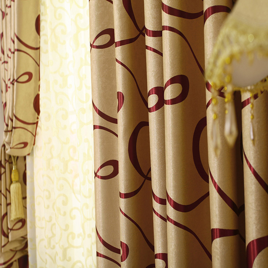 Maroon Curtains For Living Room Aliexpresscom Buy Modern Double Sided Shading Jacquard Cortina