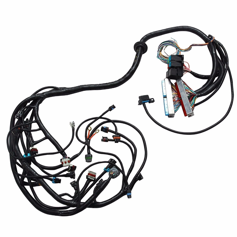 ls1 / ls6 5 7l ev1 24x engine standalone ls wiring harness w/4l60e  transmission 4l80e optional