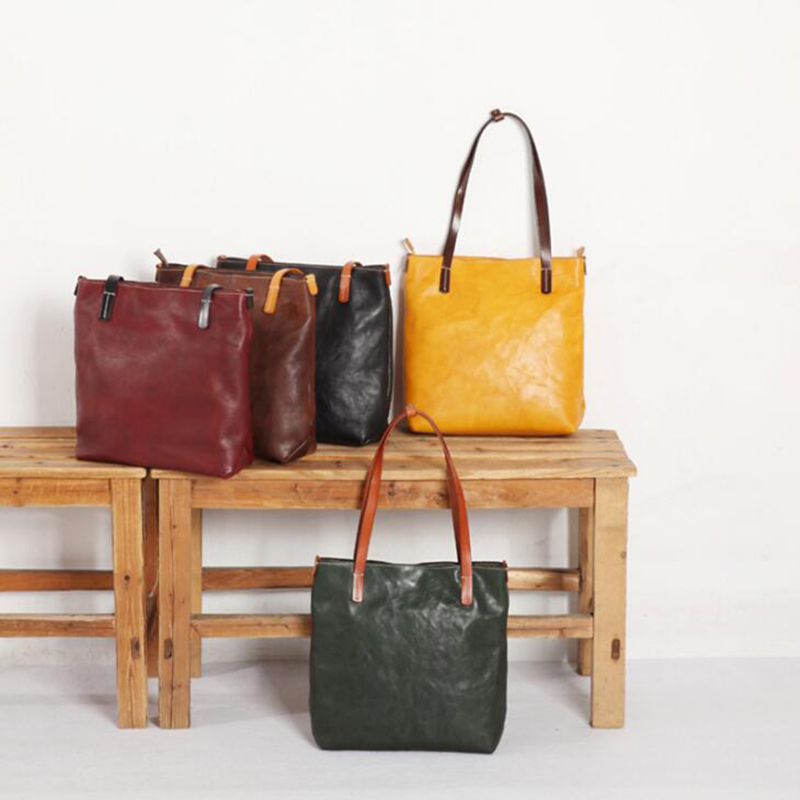 где купить Leather Women Shoulder Bag Messenger Bag Female Big Tote Ladies Genuine Leather Bags For Woman Handbags Green Black Shoulder Bag по лучшей цене