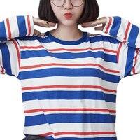 New 2016 Women Tops Autumn Female T Shirt Harajuku Shirts Striped Long Sleeve T Shirt Women
