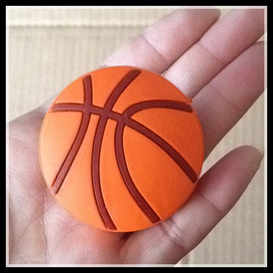 Dia. 48mm Basketball kid soft furniture handle knob pull single hole decorative handle for doors cabinets drawers