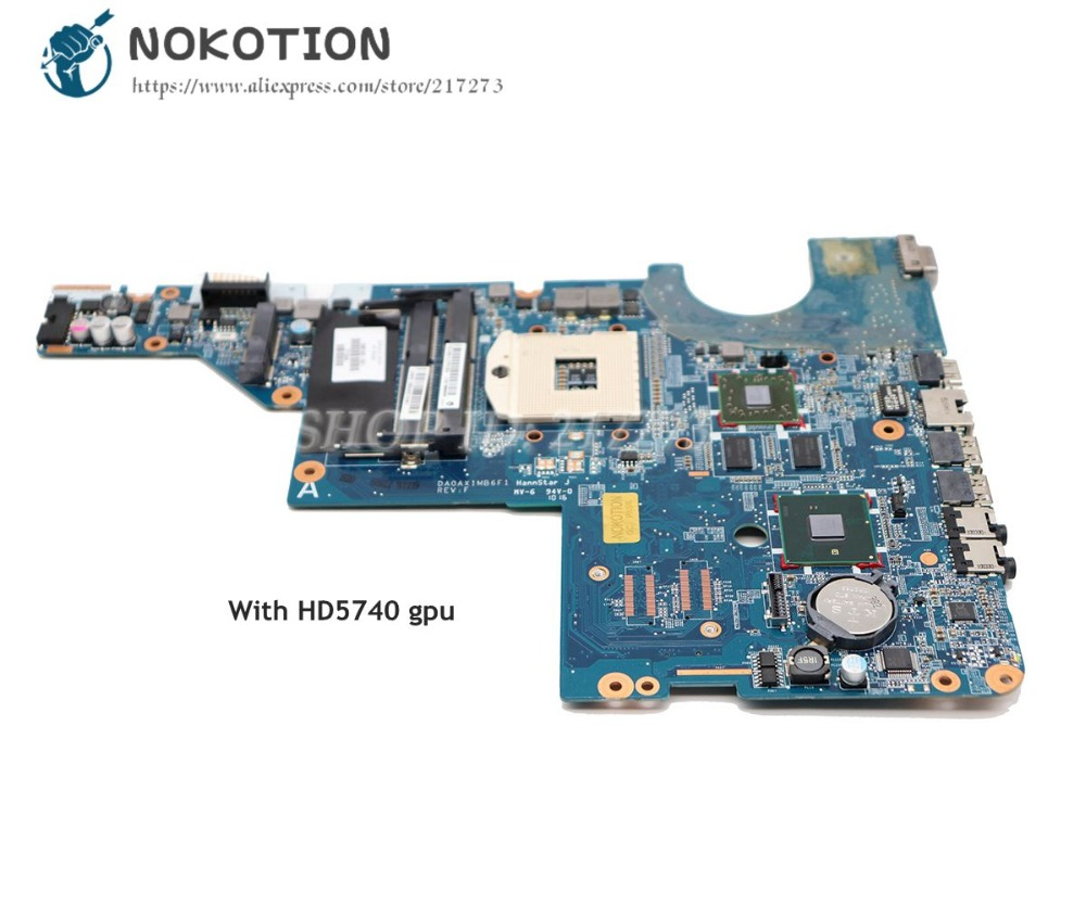 NOKOTION 615578-001 595183-001 DA0AX1MB6H0 For HP Pavilion CQ42 G62 Laptop Motherboard HM55 DDR3 HD5470 Video card 615578 001 motherboard for hp cq42 cq62 da0ax1mb6h0