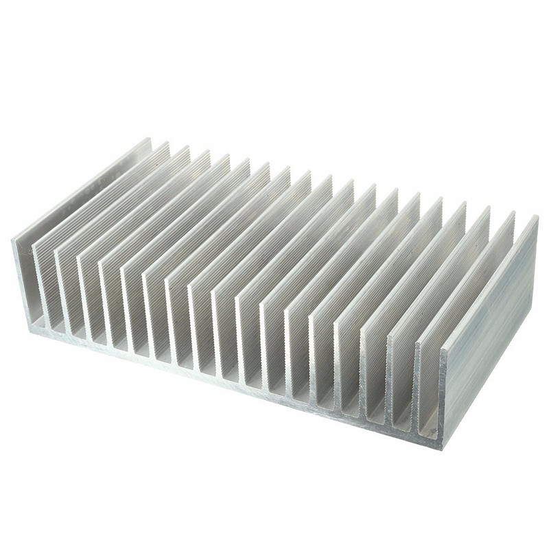 Heat Dissipation Aluminum Heat Sink Radiator Heatsink For IC Electronic Chipset High Power LED Amplifier Transistor 182x100x45mm