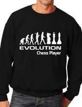 Evolution Von Schach Player Lustige Erwachsene Sweatshirt Jumper Geburtstagsgeschenk Mehr Größe und Color-E171