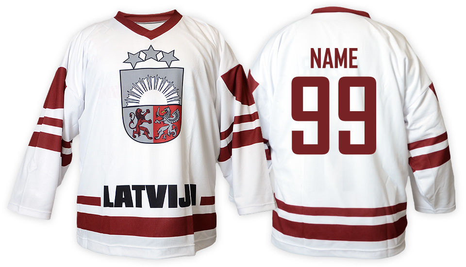 Team Latvia Latvija White Ice Hockey Jersey Mens Embroidery Stitched Customize any number and name Jerseys zan headgear neodanna gender mens unisex primary color white distinct name gun gangster size osfm wneolt101
