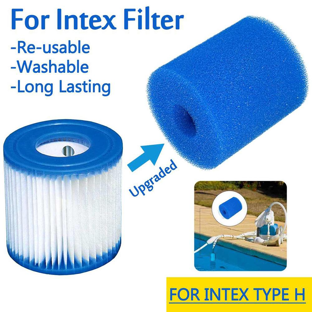 Swimming Pool Foam Filter Sponge Intex Type H Reusable Washable Biofoam Cleaner Pool Foam Filter Sponges Swimming Accessories