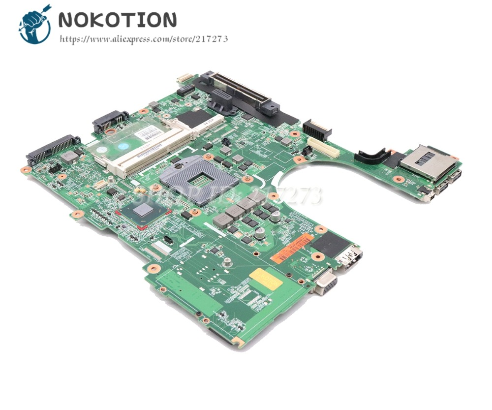 NOKOTION For HP Probook 6560B 8560P Laptop Motherboard HM65 DDR3 646962-001 654129-001 MAIN BOARD