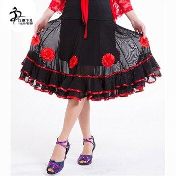 5f5950618 64 cm de longitud faldas Flamenco vestido de danza del vientre falda de  baile latino