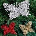 10 pcs oco pendurado butterfly decoração xmas party decor ornamento do casamento