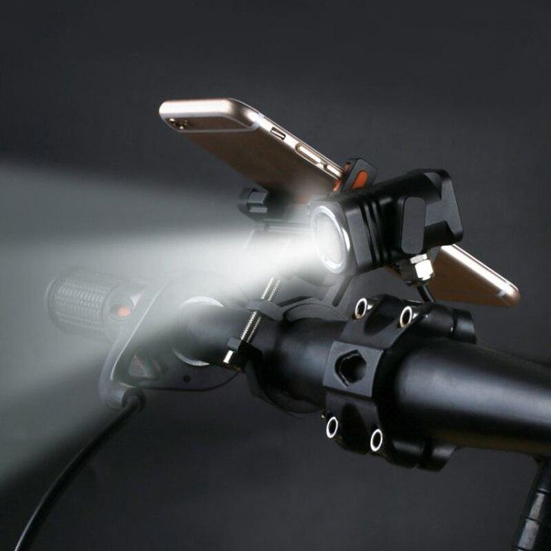 Vtt vélo avant lumière vélo lumière guidon support pour téléphone portable bande phares de vélo + batterie ensemble