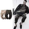 Nueva Caliente de la manera joggers chinos camo kanye diseñador urbana hip hop ropa para hombre capri tobillo mono de camuflaje hombres pantalones cargo