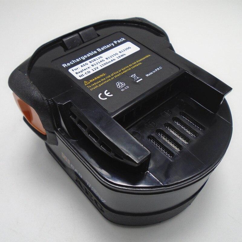 12 V Recarregável Ni-Cd pacote de célula de bateria 2000 mah para AEG furadeira Elétrica sem fio B12 BX12 BXS12 BXL12 MX12 MXS12 Tipo B
