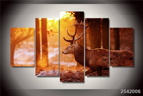 Hd Printed Forest Deer Painting On Canvas Room Decoration Print Poster Picture Canvas Free Shipping/Ny-2769 Christmas gift