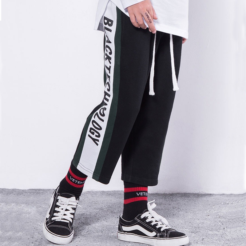 5-12 Yrs Teenage Boys Pants Active Ankle-length Cotton Big Boy Trousers Kids Pant For Play Skateboard Childrens Clothing