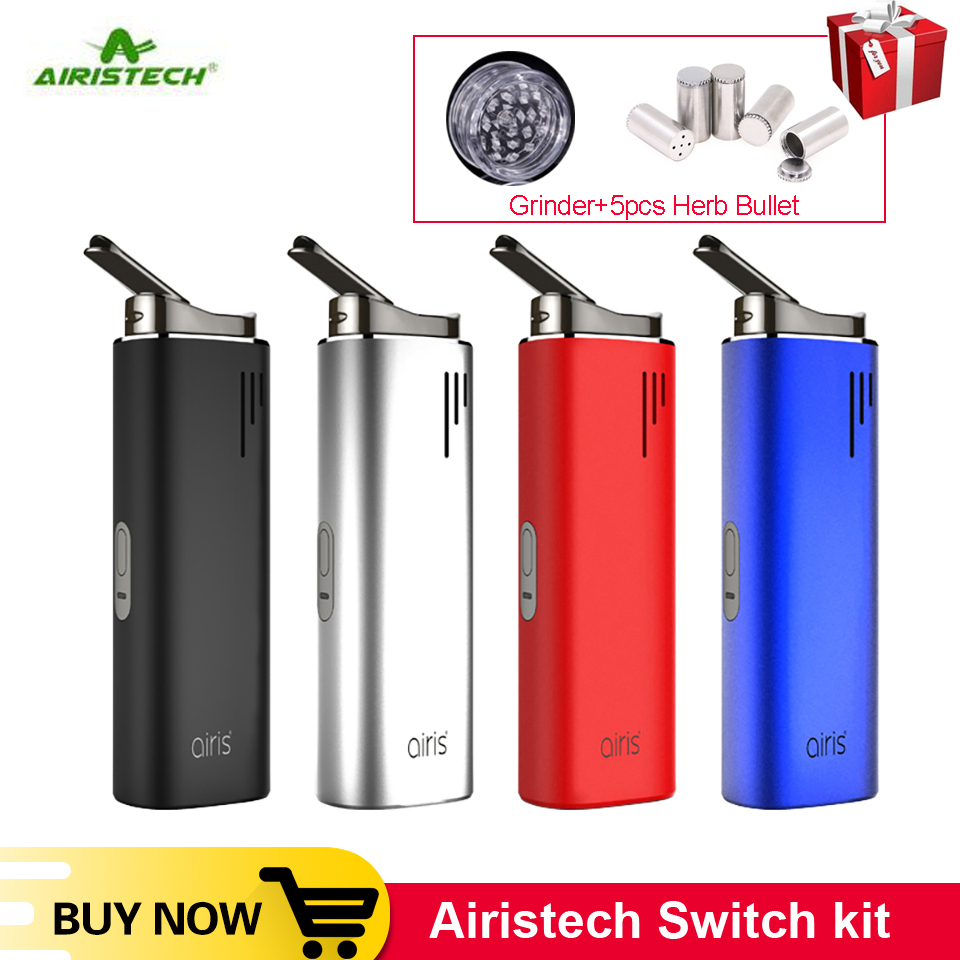 In Stock Original Airistech Switch Kit 3in1 Vaporizer dry herb wax oil Ceramic Chamber Heating 2200mAh