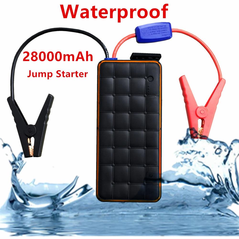 Super étanche 28000 mAh 12 V dispositif de démarrage 1000A Portable voiture Jumper démarreur chargeur de voiture pour voiture batterie Booster voiture démarreur