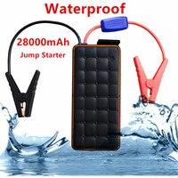 Super Waterproof 28000mAh 12V Starting Device 1000A Portable Car Jumper Starter Car Charger For Car Battery Booster Car Starter
