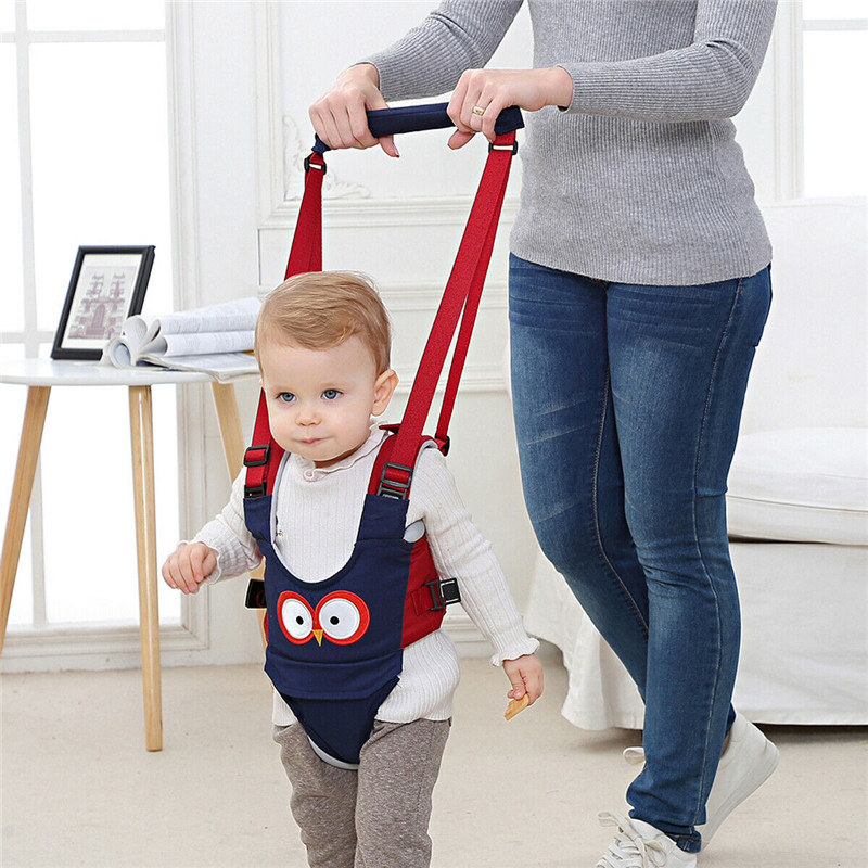 Portable Baby Handheld Walker Kid's Safe Walking Harness Leashes Protective Assistant Cute Cartoon Baby Walking Wing Harness