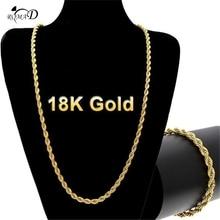 Necklace Men 4mm Width Punk Miami Cuban Choker Collar Statement Hip Hop Big Chunky Aluminum Golden Thick Chain A30