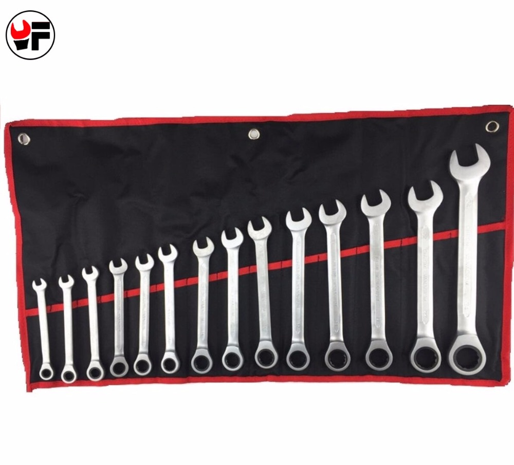 YOFE 14pcs 8-24mm CR-V Ratchet Wrench Set Tools Kit for Car Repair Tools Wrench Spanner A Set of Keys Car Wrench Repair Tool