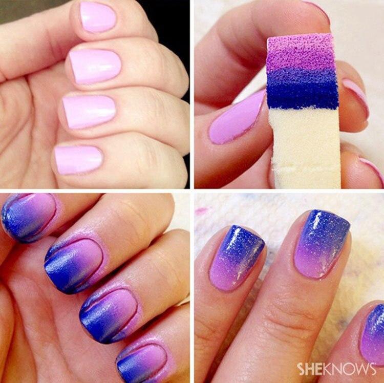 8pcs Grant Nails Soft Sponge For Color Fade Natural Magic Simple