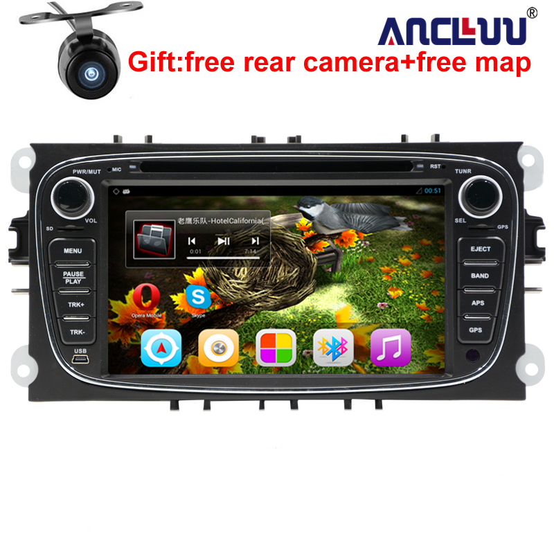 Android 6.0 Quad core 2 Din 7 Car DVD Player For FORD/FOCUS 2 /MONDEO/S-MAX/CONNECT 2008 2009 2010 2011 head unit Car GPS Radio android 8 4 32gb car gps navigation dvd player radio isp screen for ford focus 2004 2011 ford mondeo focus s max kuga galax mk3