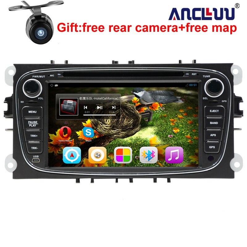 Android 6.0 Quad core 2 Din 7 Lecteur DVD de voiture Pour FORD/FOCUS 2/MONDEO/S-MAX/CONNECT 2008 2009 2010 2011 tête unité voiture GPS Radio