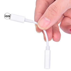 1pc 3.5mm Aux Audio Adapter for iPhone Audio Adapter 3.5 Jack Headphone Earphone Adapter free shipping