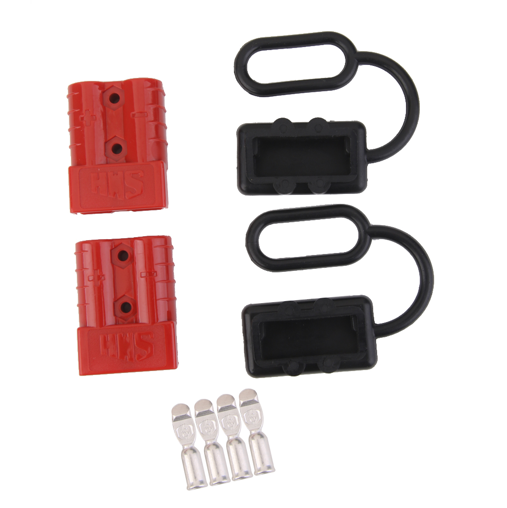 6 Gauge 50A Battery Cable Quick Connect Disconnect Plug Kit Recovery Winch Trailer 12-36V DC