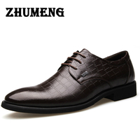 2016 New Spring Luxurious Man Business Affairs Dress Leather Male Single Shoe Flats Hot Sale Wedding