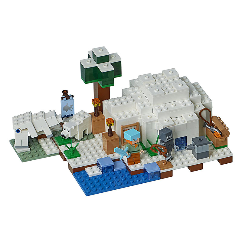 10811 The Polar Igloo Compatible with  21142 Legoing Minecrafted Block Set Creative Building Toy 284Pcs