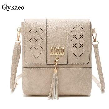 701d70834 Gykaeo mujer hueco cubierta de hombro Bolsos Mujer bolsos marcas famosas  pequeño de cuero de la PU embrague bandolera bolsas