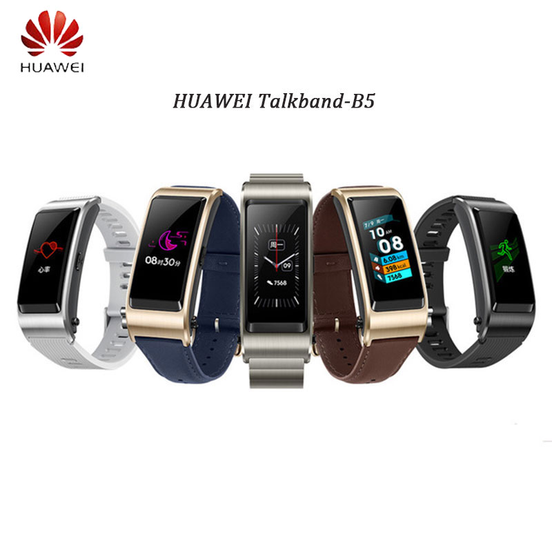 Huawei TalkBand B5 Talk Band B5 Bluetooth Smart Bracelet Sports Wristbands Touch AMOLED Screen Call Earphone