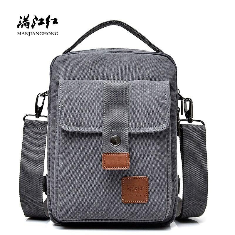 New Fashion Canvas Shoulder Bag Men Multi-functional Leisure Men Messenger Bag Crossbody Casual Sling Bag Men Male Handbag 1398
