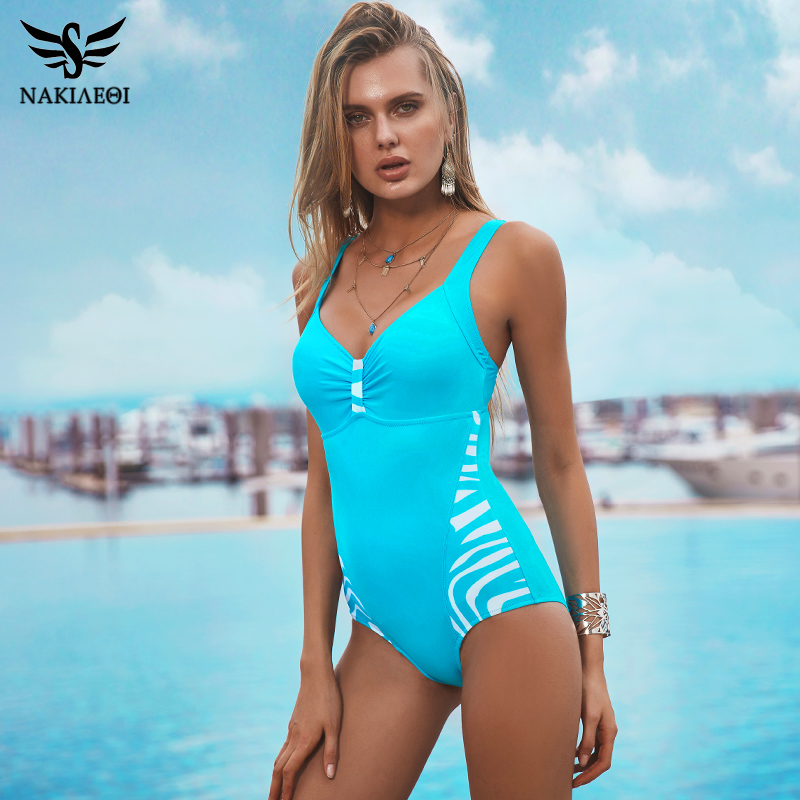 NAKIAEOI 2017 New One Piece Swimsuits Plus Size Swimwear Women Bathing Suit High Waist Swimsuit Monokini Push Up Backless Black 2017 new sexy one piece swimsuit strappy biquini high waist one piece swimwear women bodysuit plus size bathing suits monokinis