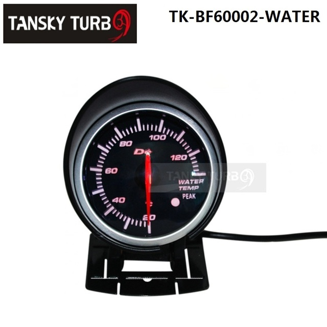 Tansky - BF 60mm LED Water Temp Temprature Gauge High Quality Auto Car Motor Gauge with Red & White Light TK-BF60002-WATER