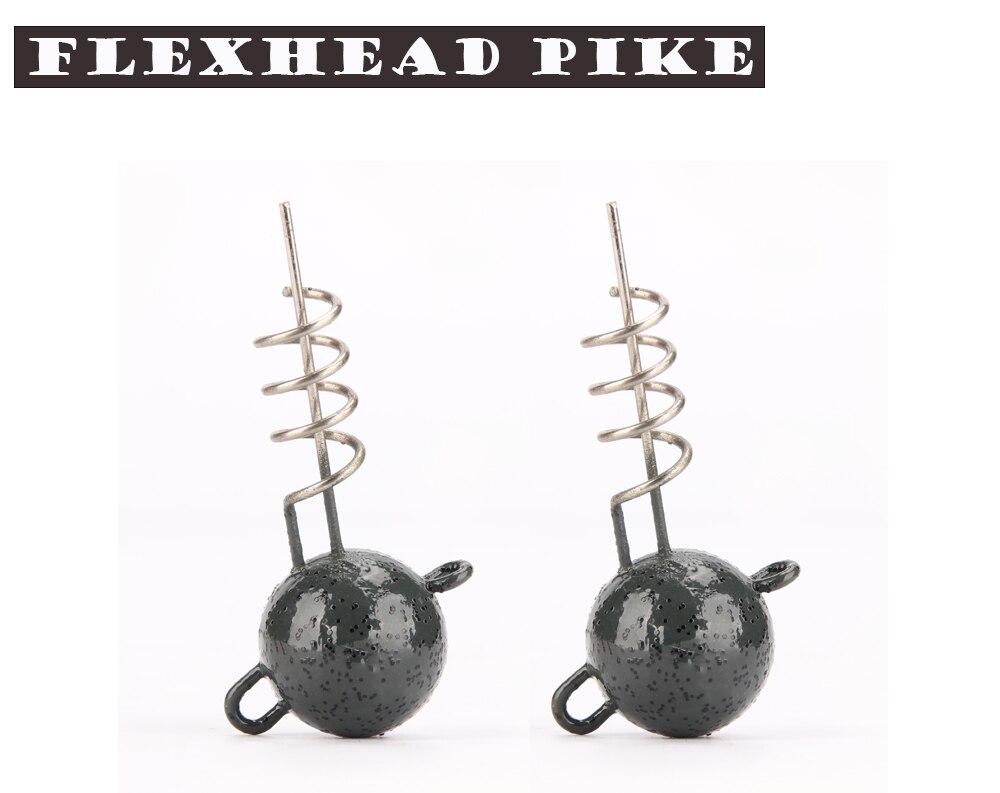 Spinpoler Fishing Jig Hooks 7g10g15g20g25g30g50g Flexhead Pike Round Head Jigs For Soft Bait Lure Freshwater Saltwater (1)
