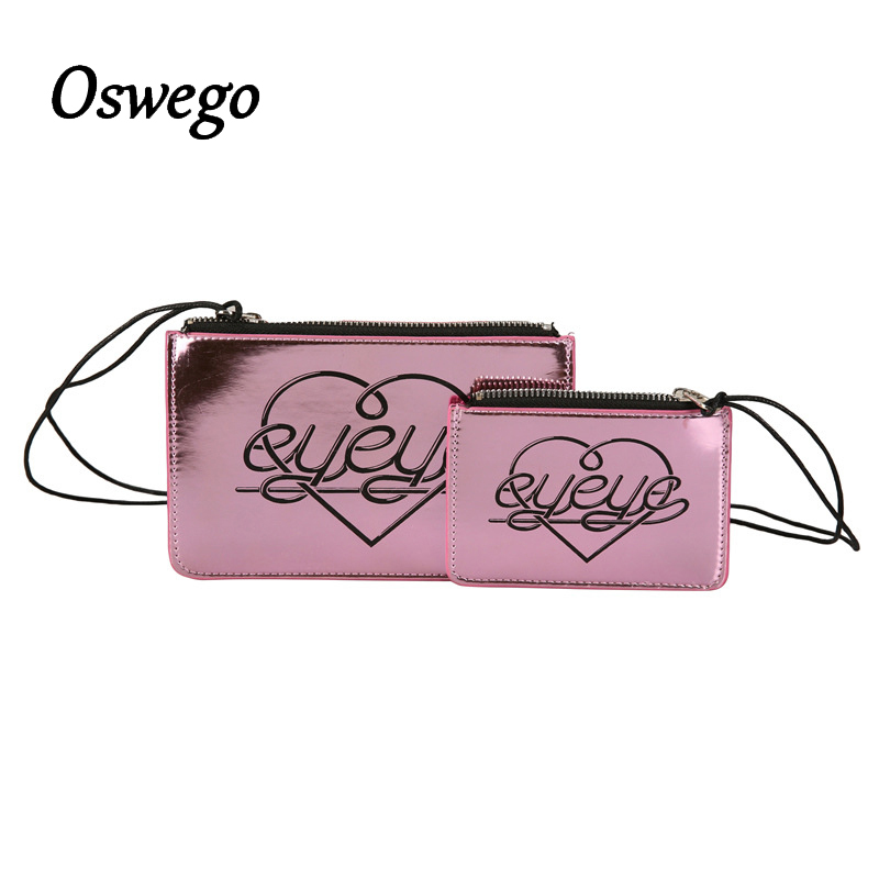 K Pop Style Bling Bling Laser Stitching PU Leather Women Holographic Bag Coin Purse Mini Wallet Money Key Bag Zipper for Girl