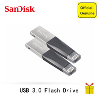 Sandisk OTG USB Flash Drives 16GB 32GB Pendrive 64GB 128Gb Pen Drive 3.0 USB Flashdisk For iPhone iPad iPod APPLE MFi JetDrive