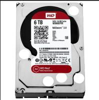 Western Digital Red, 3,5 дюйма, 6000 ГБ, 5400 об/мин, Serial ATA III, 64 Мб, HDD