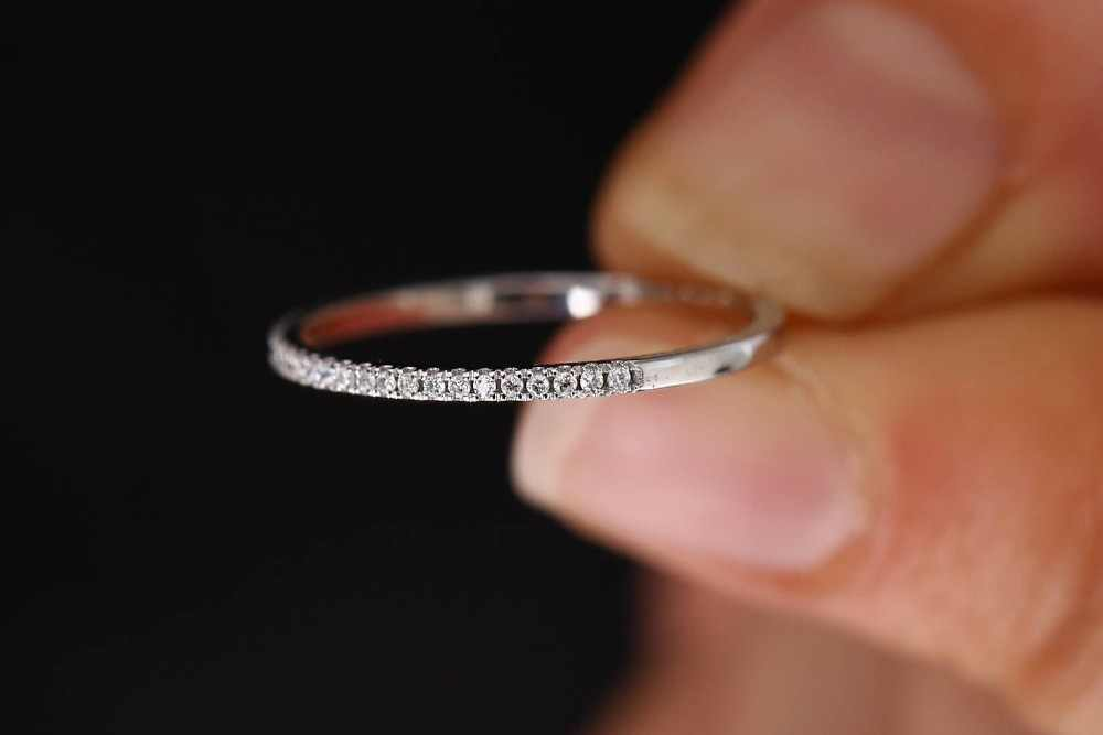 Boho แฟชั่นคริสตัล Zircon แหวนหญิงเงินทองสีงานแต่งงานเครื่องประดับสัญญารักหมั้นแหวน