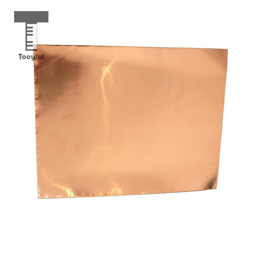 Tooyful 10 Sheets Self Adhesive Copper Foil EMI Guitar Shielding Tape 30x20cm